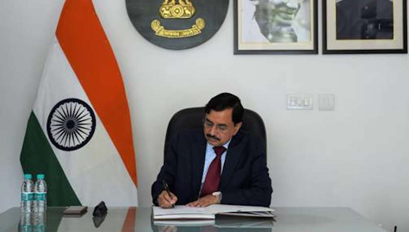 Sushil Chandra takes over as Chief Election Commissioner of India on April 13, 2021. Photo: PIB