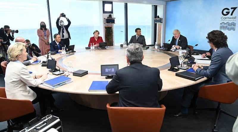 G7 Leaders Plenary Session Building Back Better from Covid-19 during the G7 Summit in Cornwall, UK on 11th June 2021. Photo: Karwai Tang/G7 Cornwall 2021 (file photo)