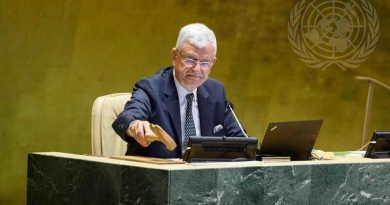President of the 75th session of the United Nations General Assembly and the special session against corruption, Mr. Volkan Bozkır. Photo: UN General Assembly
