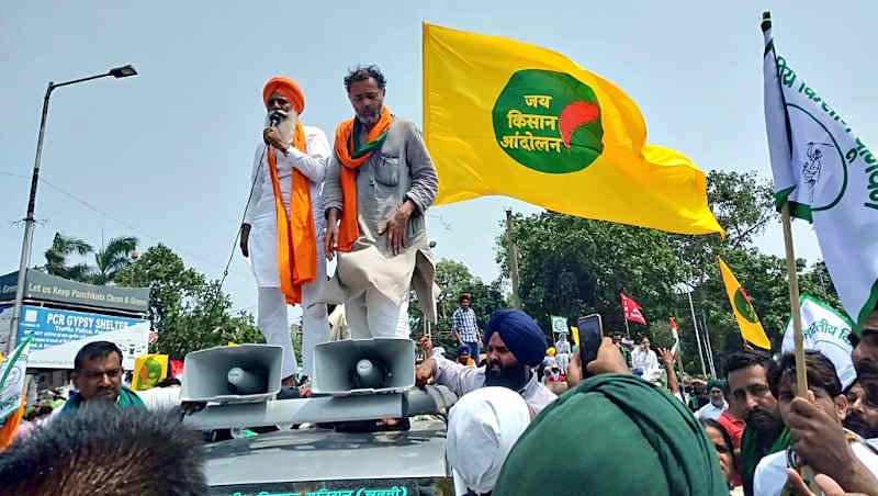 Farmers participating in the 'Save Farming, Save Democracy' march in India on June 26, 2021. Photo: Jai Kisan Andolan