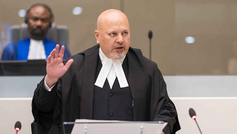 Mr Karim Asad Ahmad Khan QC taking his solemn oath as ICC Prosecutor on June 16, 2021. Photo: ICC-CPI