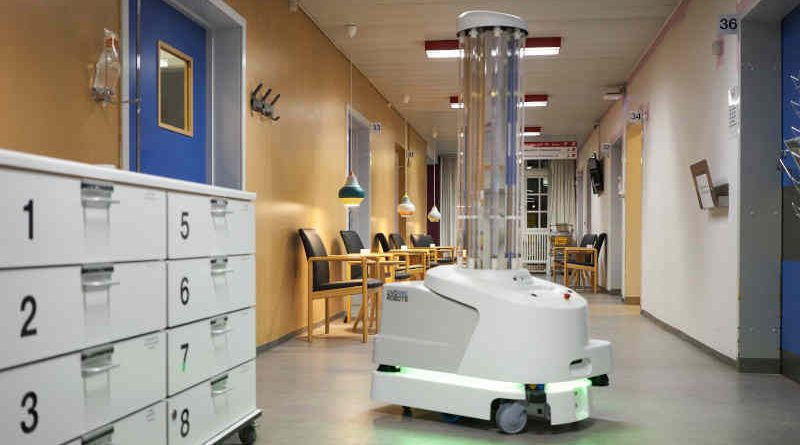 Disinfection Robot. Photo: European Commission