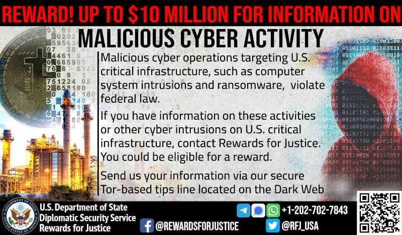 U.S. Department of State's Rewards for Justice (RFJ) Program