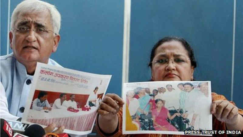 Salman Khurshid and his wife denied allegations of corruption. Photo: PTI / BBC