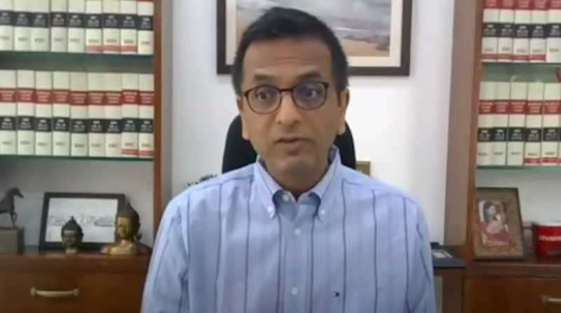Justice D.Y. Chandrachud. Photo: Screengrab from the video of the virtual event on August 28, 2021