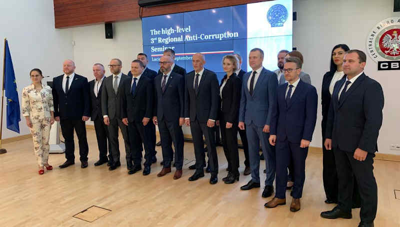 On 8-10 September 2021, The High-Level 3rd Seminar, organised by the Central Anti-Corruption Bureau (CBA), was held for representatives of anti-corruption agencies of the Baltic States - Lithuania, Latvia and Estonia. Previously, similar meetings were held by Estonia and Lithuania. Photo: CBA