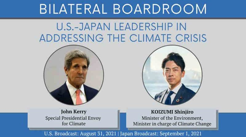 Bilateral Boardroom: U.S.-Japan Leadership in Addressing the Climate Crisis. Photo: Twitter / Special Presidential Envoy John Kerry