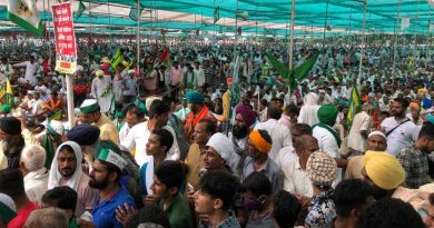 Indian farmers' protest rally (Kisan Mahapanchayat) in Muzaffarnagar, Uttar Pradesh (UP) on September 5, 2021. Photo: All India Kisan Sangharsh Coordination Committee