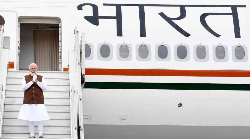 The Prime Minister of India Narendra Modi going to USA from New Delhi on September 22, 2021. Photo: PIB