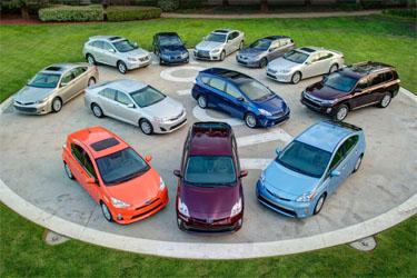 Toyota and Lexus hybrid vehicles