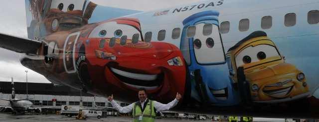 Alaska Airlines Debuts Disney-Themed Airplane