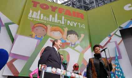 Alicia Keys Opens Toy Fair