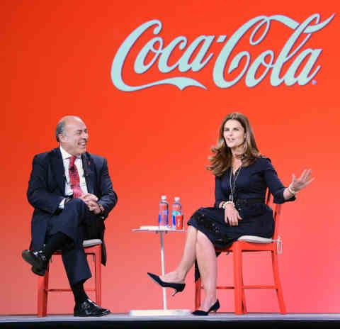 Coca-Cola CEO Muhtar Kent with Maria Shriver