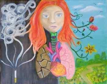 Anti-Smoking Student Art