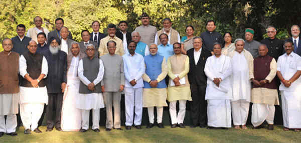Narendra Modi with Chief Ministers of Indian States