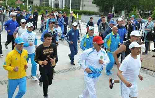 Olympic Day in Astana was started with a race