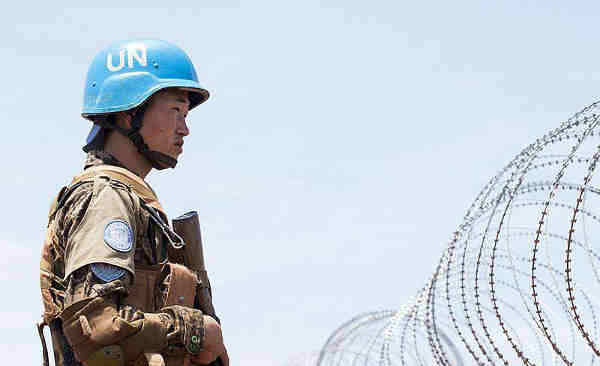 A peacekeeper with the UN Mission in South Sudan (UNMISS). Photo: UNMISS