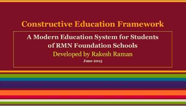 Constructive Education Framework