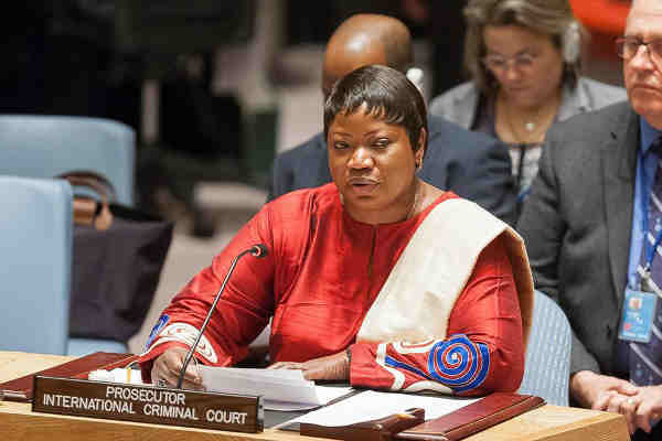 ICC Prosecutor Fatou Bensouda briefs the Security Council. UN Photo/Yubi Hoffmann