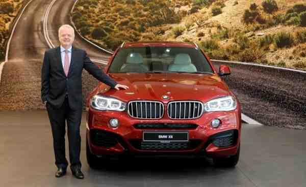 Philipp von Sahr, President, BMW India with the all-new BMW X6