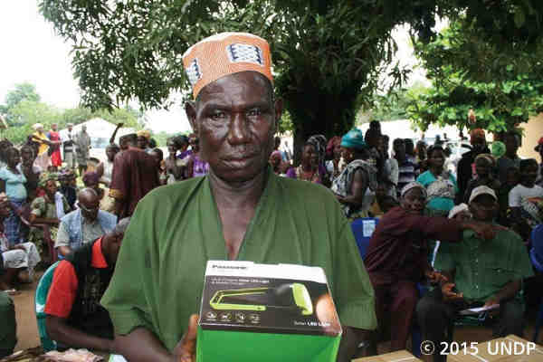 Panasonic Solar Lanterns for Ebola Affected Regions