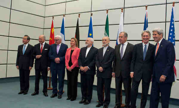Representatives of the P5+1 and the Islamic Republic of Iran at the historic nuclear agreement sealed in Vienna. Credit: UNIS Vienna