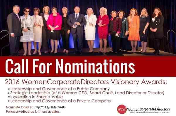 Call for Nominations: Corporate Awards for Women
