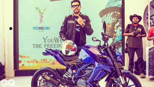 Cricketer Yuvraj Singh Launches YouWecan Bike Kit
