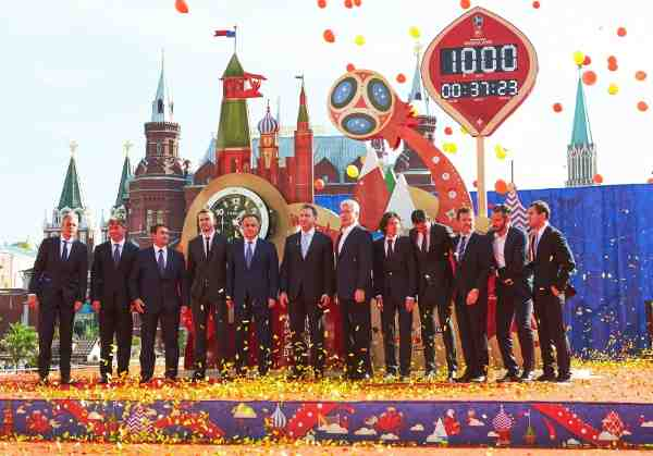 FIFA World Cup: Countdown Clock Unveiled in Russia