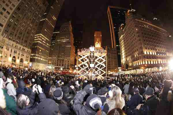 World's Largest Chanukah Menorah on Fifth Avenue by Central Park