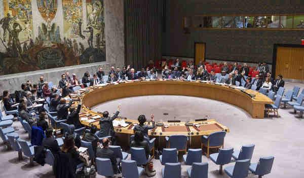 Security Council adopts a resolution. UN Photo / Amanda Voisard