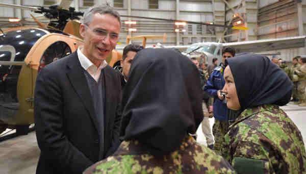 NATO Secretary General Jens Stoltenberg in Afghanistan