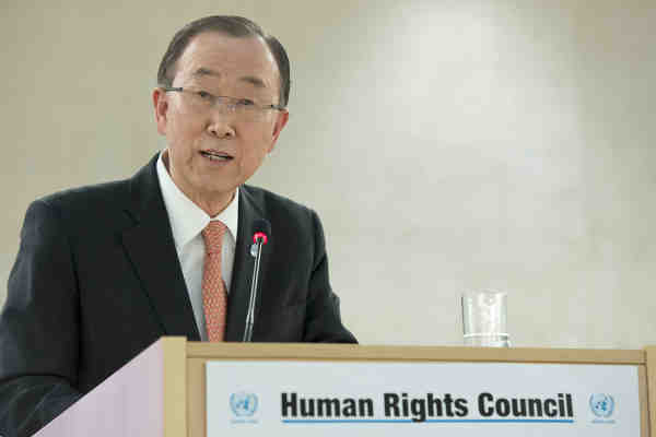 Secretary-General Ban Ki-moon at the opening of the 31st session of the UN Human Rights Council, and the High-level panel discussion on human rights mainstreaming. UN Photo / Jean-Marc Ferré