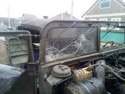 A Damaged Vehicle of Joint Mobile Group