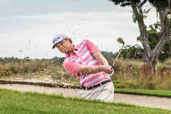 Athlete Patton Kizzire in the new Columbia Golf Collection