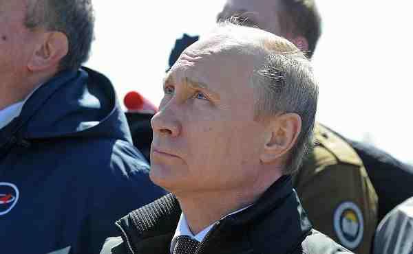 President Vladimir Putin Observes the Launch of Rocket