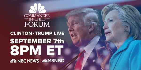 Hillary Clinton, Donald Trump to Share the Stage for NBC Show