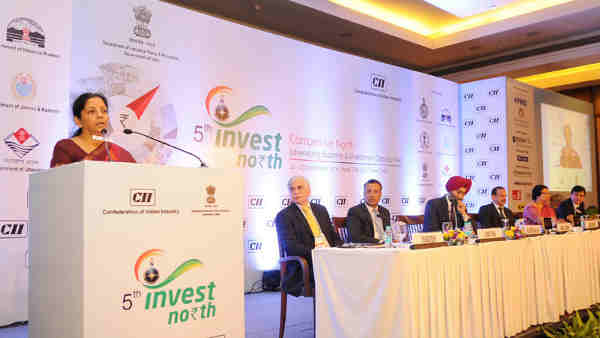 Smt. Nirmala Sitharaman addressing the inaugural session of the Invest North Summit, in New Delhi on September 22, 2016