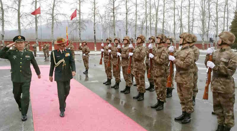 The Chief of Army Staff, General Dalbir Singh inspecting the Guard of Honour, at the Bayi Building, in Beijing, China on November 21, 2016