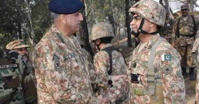 General Qamar Javed Bajwa, Pakistan's Chief of Army Staff spent his day visiting Headquarters 10 Corps Rawalpindi and troops on forward locations on the Line of Control