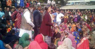 Brinda Karat addressing the public meeting in Delhi