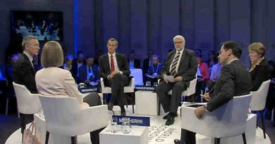NATO Secretary General Jens Stoltenberg stressed the importance of strong institutions and transatlantic cooperation at the World Economic Forum in Davos, Switzerland on January 19, 2017