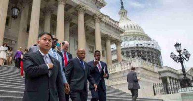 Congressman Lieu joins civil rights leader Congressman John Lewis and House Democrats during the House Democrats Sit-In on Gun Control. (Representational image)