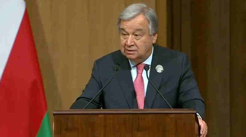 Secretary-General António Guterres addresses the Summit of the League of Arab States in Jordan. Photo: UN News
