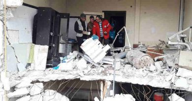 Destroyed health centre in Sakhour, east Aleppo, Syria, which, four years ago, provided 20,000 Iraqi refugees with health care. Today, the UN is looking into its rehabilitation. Photo: OCHA/MB