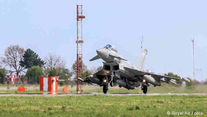 NATO Jets Start Air Patrols Over Romania