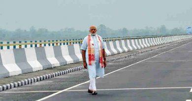 PM Narendra Modi at the Dhola-Sadia Bridge, across River Brahmaputra, in Assam on May 26, 2017 (file photo). Courtesy: PIB