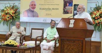 Narendra Modi addressing at the release of a 2 part book series on Dr. M.S. Swaminathan, titled - M.S. Swaminathan: The Quest for a world without hunger, in New Delhi on May 19, 2017
