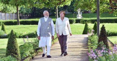 Narendra Modi and the German Chancellor, Dr. Angela Merkel meeting, at Schloss Meseberg, in Berlin, Germany on May 29, 2017