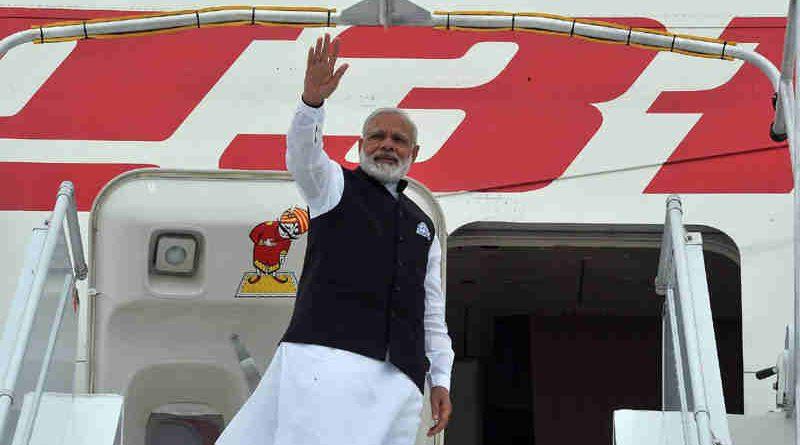 Narendra Modi departs for Delhi from Paris on June 03, 2017. Photo: Press Information Bureau